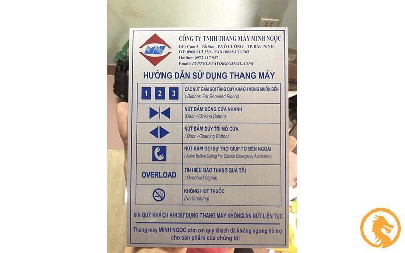 Làm biển chỉ thang máy tại Nghệ An giá rẻ uy tín - Lắp đặt miễn phí