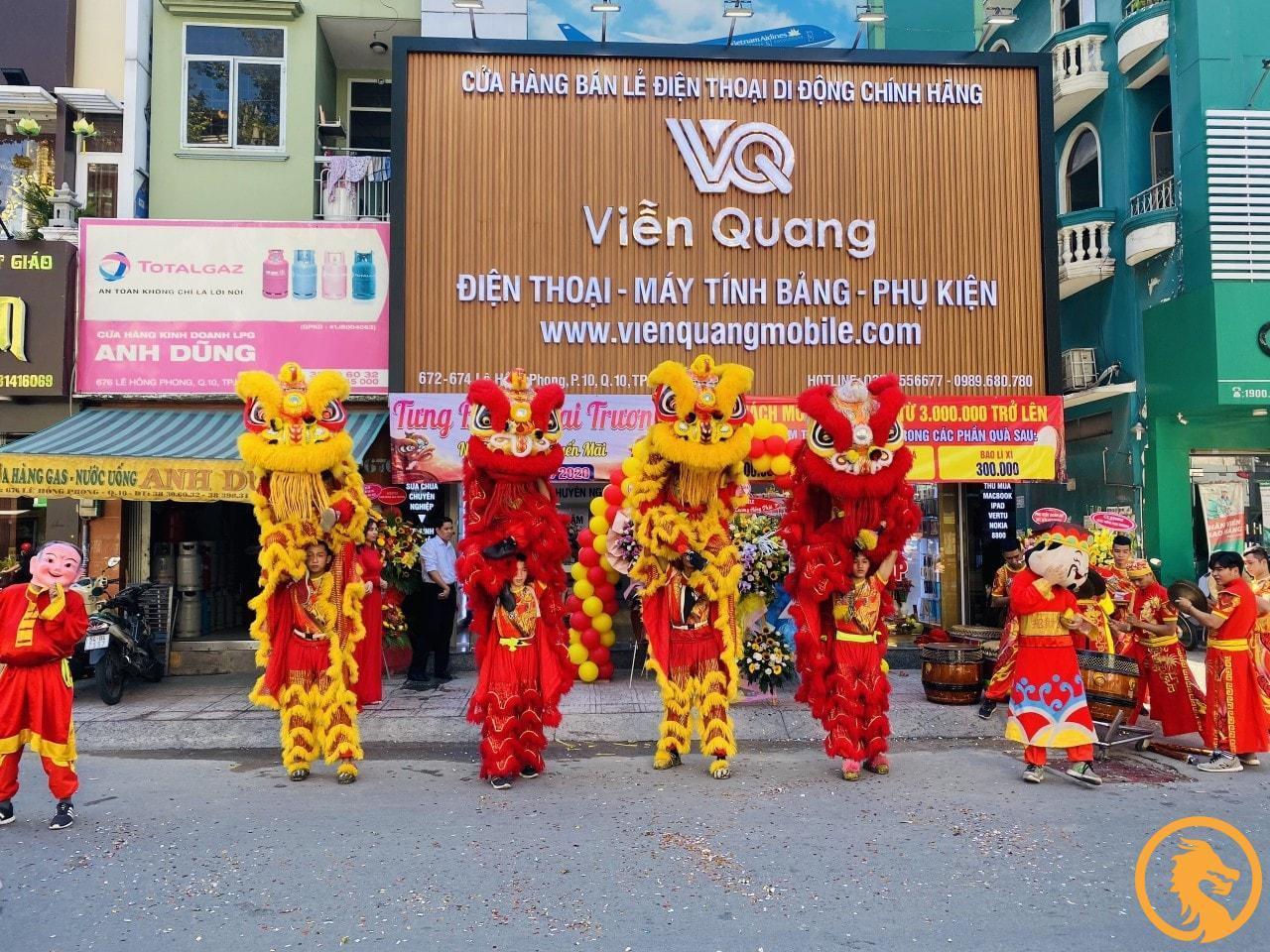 Dịch vụ lân sư rồng khai trương tại TP Vinh, Nghệ An